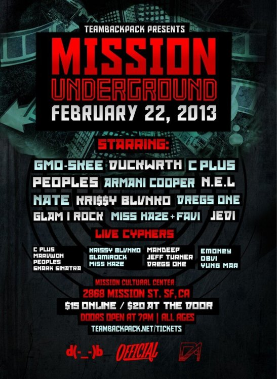 TeamBackBack Presents Mission Underground